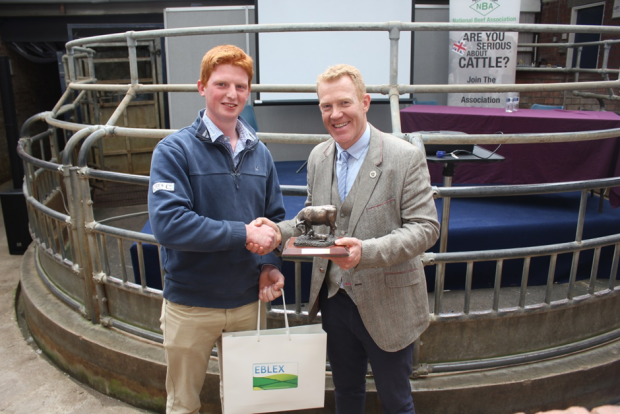 James Bonner the winner in 2015 of the Future Beef Farmer Challenge