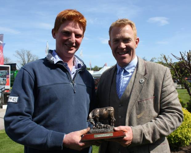 James Bonner, Future Beef Farmer Challenge Winner 2015 with Adam Henson