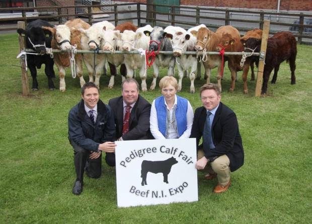Event chairman David Connolly, and secretary Ann Orr, Colin Smith LMC; and Chris Mallon, National Beef Association