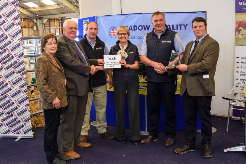 Indoor Trade Stand - First Place: Meadow Quality