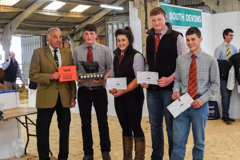 Future Beef Farmer Team Awards: First -