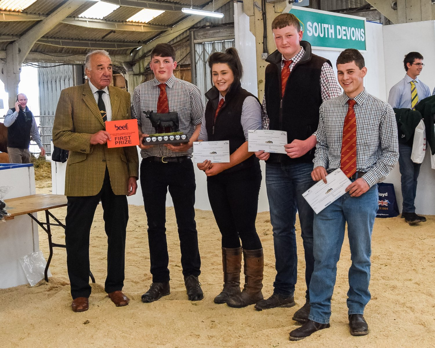 Future Beef Farmer Team Awards: First -