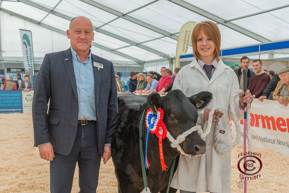 Baby Beef Champion with Sponsor Crystalyx