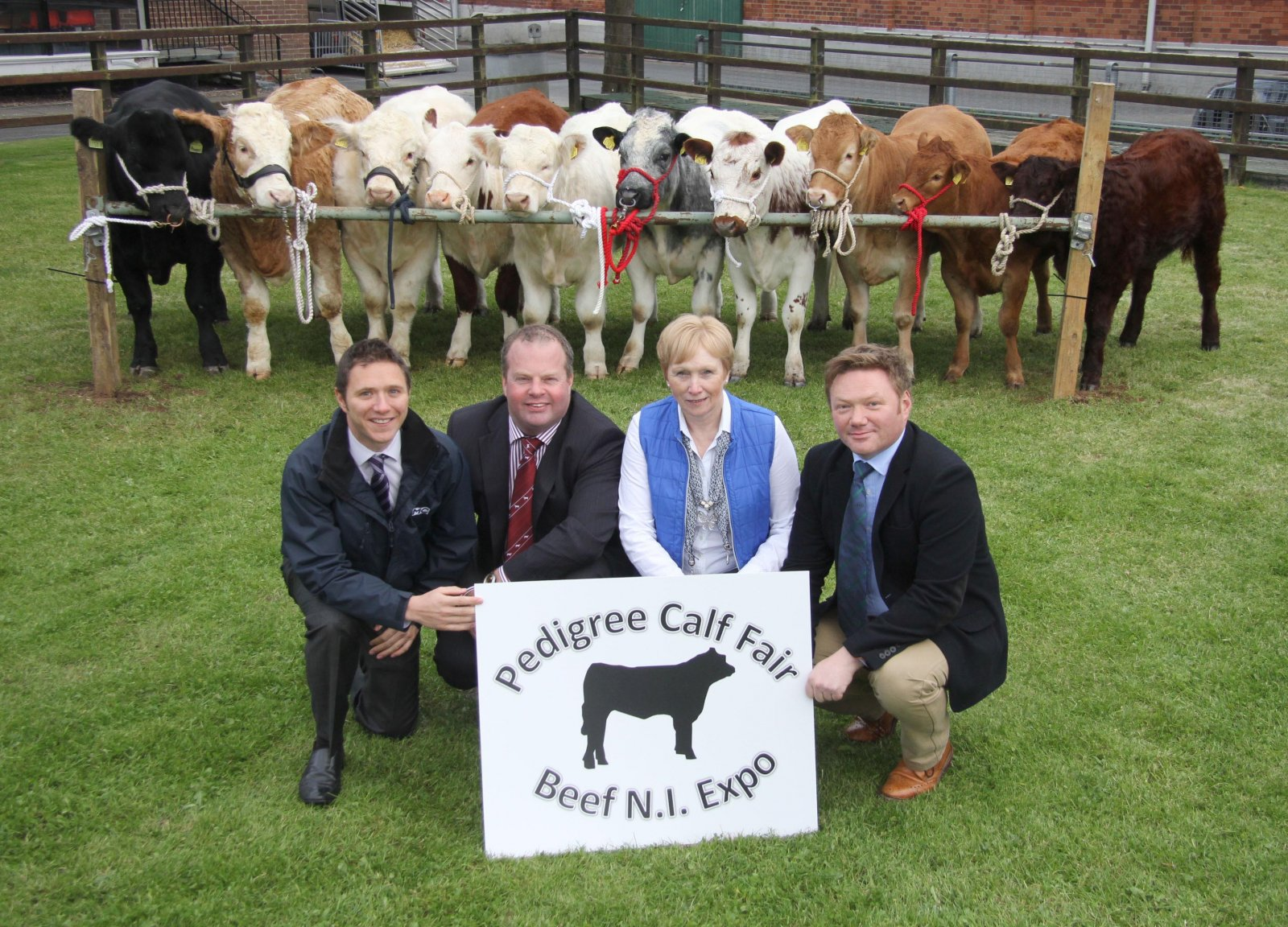 Launching the inaugural Pedigree Calf Fair and Beef NI Expo 2015 at the Balmoral Showgrounds are event chairman David Connolly, and secretary Ann Orr, with industry partners Colin Smith, Livestock and Meat Commission; and Chris Mallon, National Beef Assoc